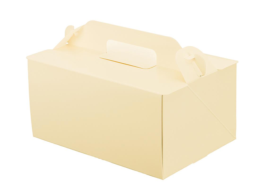ケーキ箱 105OPL-バニラ 5×7
