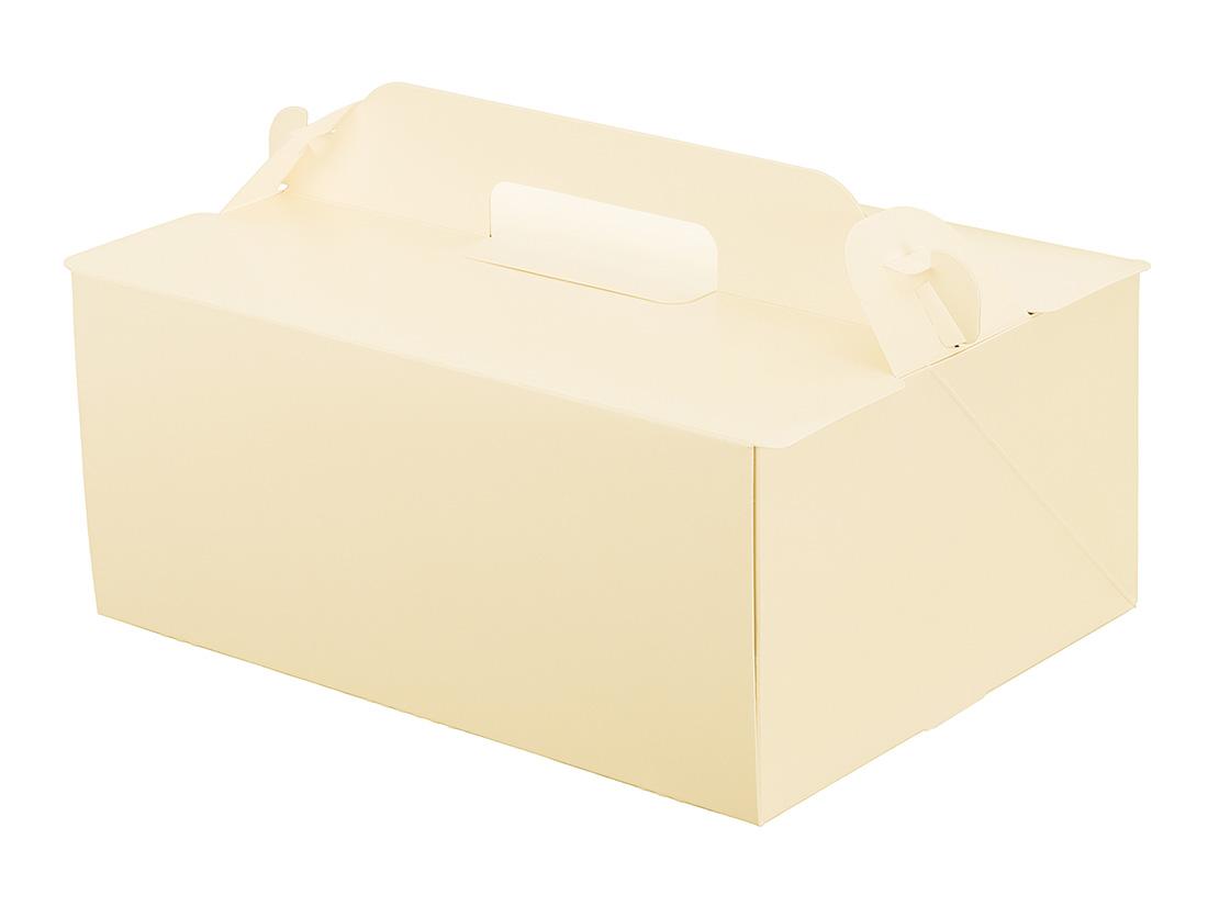 ケーキ箱 105OPL-バニラ 6×8