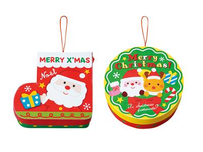 クリスマスリース&ブーツプチBOX (2柄アソート)