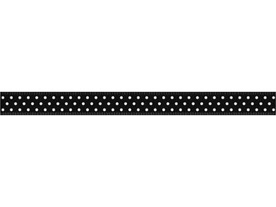 リボン ドット 黒 6mm×5m