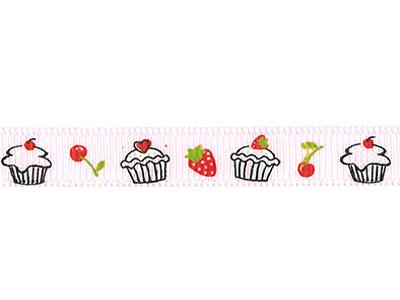 リボン カップケーキ ピンク 9mm×5m