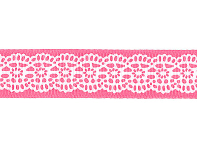 リボン レース ピンク 16mm×5m