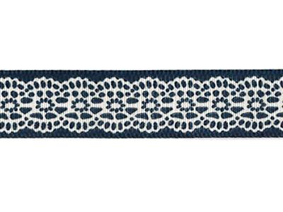 リボン レース 紺 16mm×5m