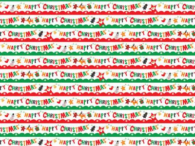 クリスマス包装紙 ガーランドロゴ