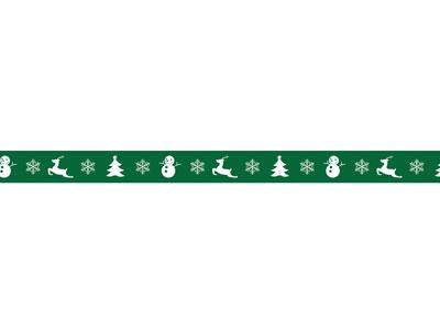 クリスマスコルテープ クリスマスモチーフG 9mm×30m