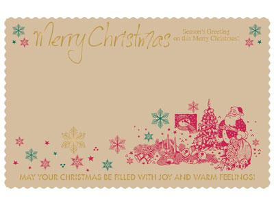 クリスマス金箔カードS H348-73(20枚入)
