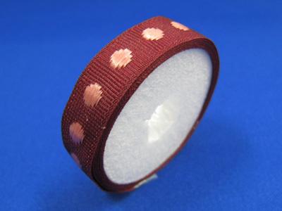 ドットグロクラン 10mm×1m紙管巻 ワイン&ピンク