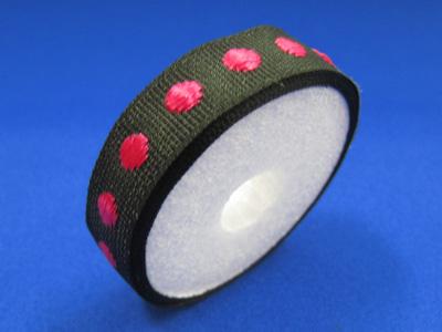 ドットグロクラン 10mm×1m紙管巻 ブラック&ピンク