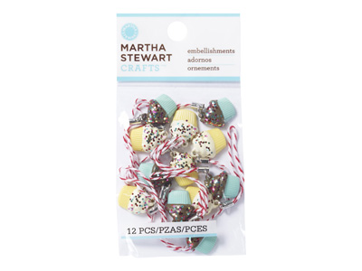 MARTHA STEWART MFカップケーキチャーム(2色各6個入)