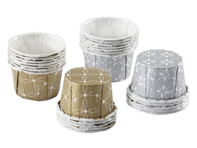 MARTHA STEWART ドイリーレースフェイバーカップ(2色各12枚入)