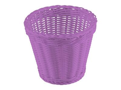 洗えるバスケット ラバトリー ラウンドディープ(パープル)