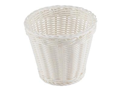 洗えるバスケット ラバトリー ラウンドディープ(ピュアホワイト)