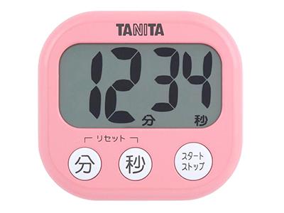 TANITA TD-384PK でか見えタイマー(フランボワーズピンク)