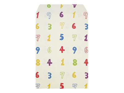 ふわり和紙袋 中 数字 8枚入