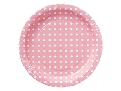 ペーパープレート ドット ピンク