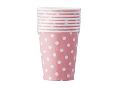 ペーパーカップ ドット ピンク