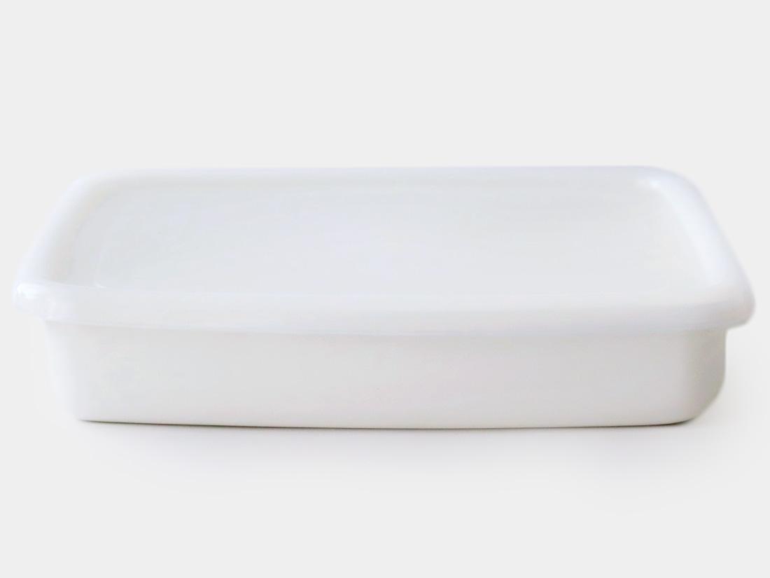 cotta 琺瑯 角バッド30cm ホワイト