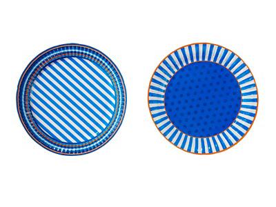 TT 紙皿/ブルー (計8枚入)