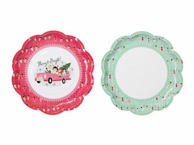TT 紙皿/クリスマスハウス (8枚入)