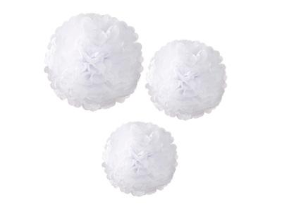 TT ポンポン(3種)ホワイト (各1枚入)