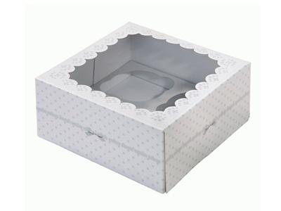 TT ケーキボックス/フラワー (2枚入)