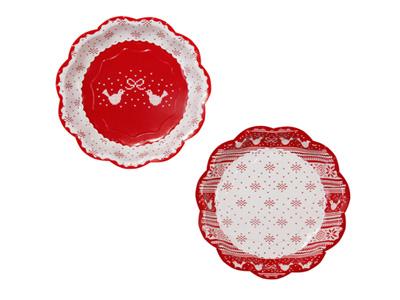 TT 紙皿/冬レッド (8枚入)