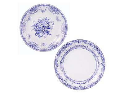 TT 紙皿/ポーセリンブルー (8枚入)