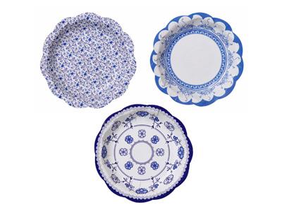 TT 紙皿/ポーセリンブルー (12枚入)