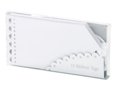TT リボンタグ/ホワイト (10枚入)