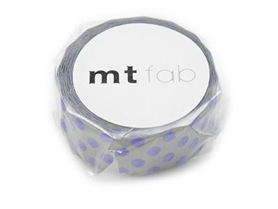 mt fab ドット・ライトグレー×ブルー 15mm