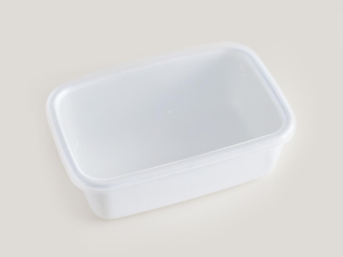 野田琺瑯 ホワイトシリーズ レクタングル深型Mシール蓋付