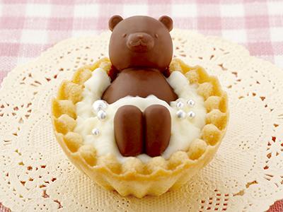タルトカップでお風呂チョコ型 クマ