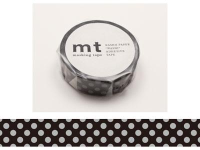 mt 1P ドット・黒×灰 15mm