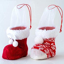 クリスマスニットブーツ