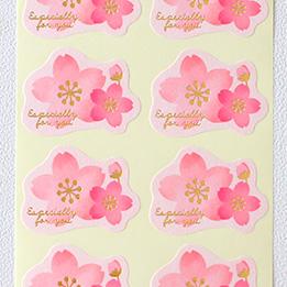 オリジナル 桜シール