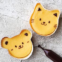 ネコ&くまのベーキングカップ