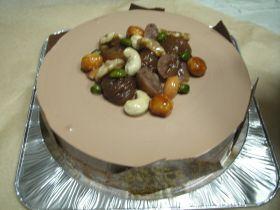 マロンとチョコのムースケーキ