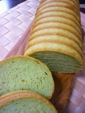 ほうれん草のトヨ型パン