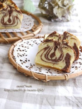 チョコマーブルパウンドケーキ**