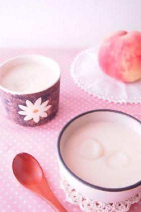 桃と豆乳のひんやりおしるこ