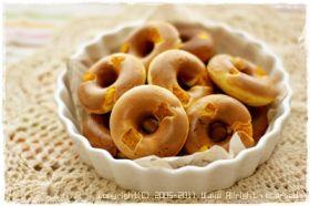 簡単しっとり カボチャの焼きドーナツ