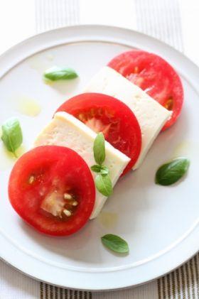 塩麹 de お豆腐のカプレーゼ