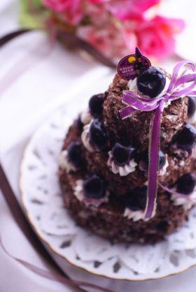 簡単魔女の3段ケーキ