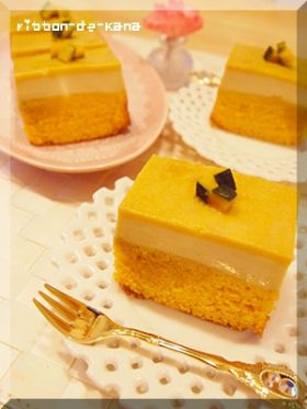 かぼちゃの2層ケーキ