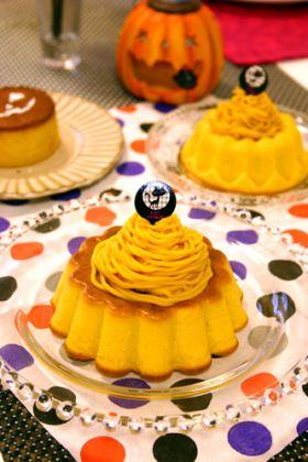 しっとりハロウィンかぼちゃのケーキ☆