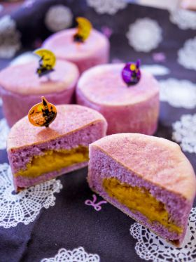 [ハロウィン]紫芋のパンプキンマフィン