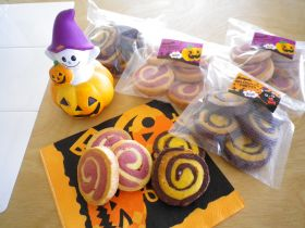 ぐるぐる紫いもクッキー
