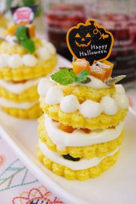 【ハロウィン】かぼちゃのプチケーキ♪