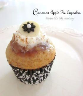 シナモンアップルパイカップケーキ