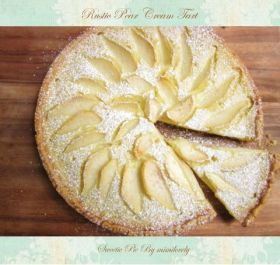 アマレット風味の洋梨クリームタルト